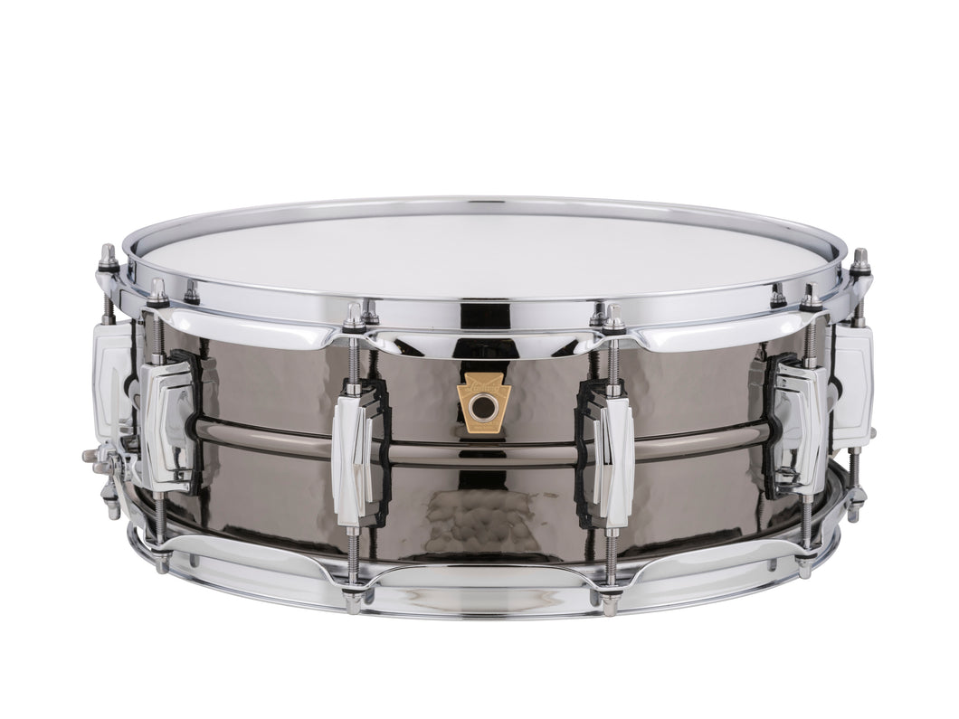 Ludwig 5X14 HAMMERED Black Beauty Snare Drum LB416K