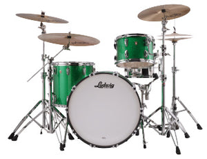 "Ludwig 24"" Classic Maple PRO BEAT Green Sparkle Drum Shell Pack L84433AX54WC"