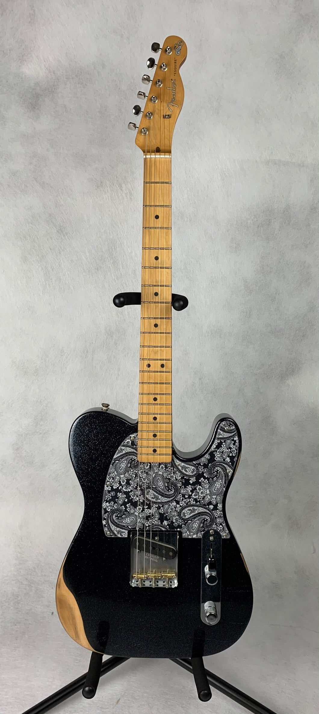 Fender Brad Paisley Road Warn Esquire - Black Sparkle