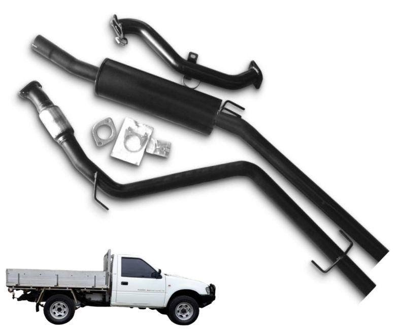 "2.5"" Turbo-Back Stainless Steel Exhaust System for 2.8lt Holden Rodeo TF Cab Chassis (4WD Model Only) (10/1998 - 02/2003 Models) - Beast Unleashed Performance Exhausts"