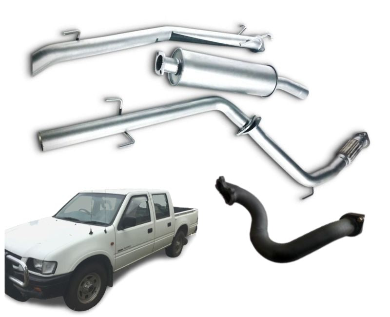 "2.5"" Turbo-Back Stainless Steel Exhaust System for 2.8lt Turbo Diesel Holden Rodeo TF (4WD Model Only) (09/1991 - 09/1998 Models) – Beast Unleashed Performance Exhausts"