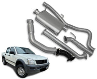 "3"" Turbo-Back Exhaust System for 3.0lt Turbo Diesel Direct Injection Holden Rodeo RA Dual Cab (11/2003 - 2007 Models) – Beast Unleashed Performance Exhausts"