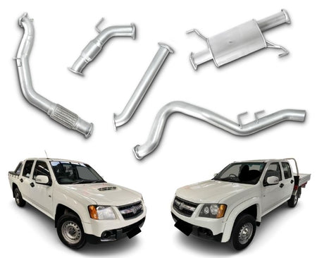 "3"" Turbo-Back Stainless Steel Exhaust System for 3.0lt Holden Colorado RC & Isuzu DMAX Dual Cab (01/2007 - 08/2010 Models) – Beast Unleashed Performance Exhausts"