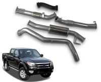 "3"" Stainless Steel Turbo-Back Exhaust System for 3.0lt PJ, PK Ford Ranger & Mazda BT50 (2007 - 2011 Models) – Beast Unleashed Performance Exhausts"