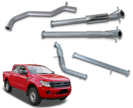 "3"" Stainless Steel Turbo-Back Exhaust System for 3.2lt Ford Ranger & Mazda BT50 (2011 - 2015 Models) – Beast Unleashed Performance Exhausts"