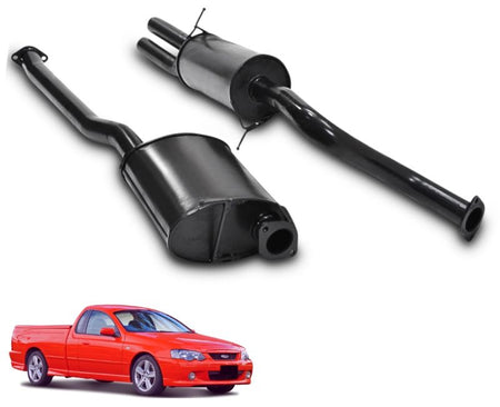 "2.5"" Performance Exhaust System for 6 Cylinder BA, BF Ford Falcon Ute with Twin Outlet – Beast Unleashed Performance Exhausts"
