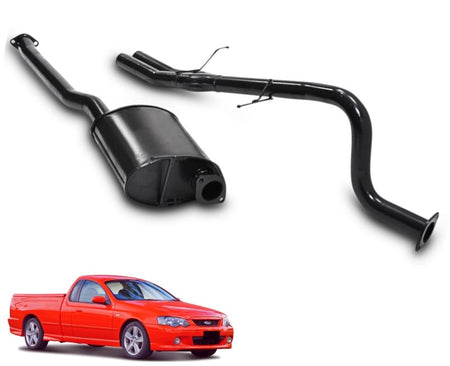 "2.5"" Performance Exhaust System for 6 Cylinder BA, BF Ford Falcon Ute with Twin Outlet (Racing System) – Beast Unleashed Performance Exhausts"