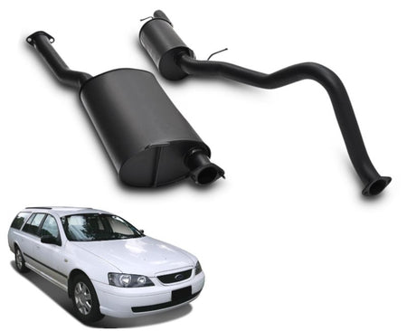 "2.5"" Performance Exhaust System for 6 Cylinder BA, BF Ford Falcon Wagon – Beast Unleashed Performance Exhausts"