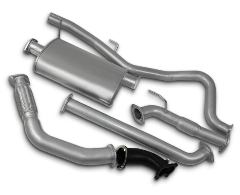 "3"" Turbo-Back Exhaust System for 3.0lt Turbo Diesel Direct Injection Holden Rodeo RA Extra Cab (11/2003 - 2008 Models) – Beast Unleashed Performance Exhausts"