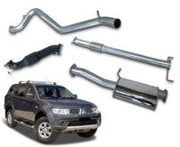 "3"" Turbo-Back Stainless Steel Exhaust System for 2.5lt Turbo Diesel PB, PC Mitsubishi Challenger (2009 - 2016 Models) – Beast Unleashed Performance Exhausts"
