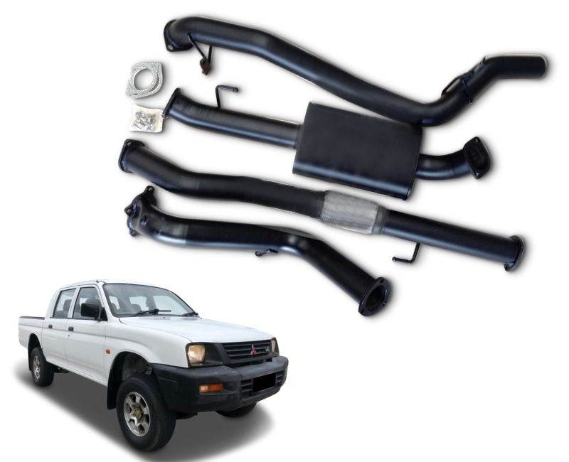 "3"" Turbo-Back Stainless Steel Exhaust System for 2.8lt Mitsubishi Triton MK Dual Cab (1997 - 2006 Models) – Beast Unleashed Performance Exhausts"