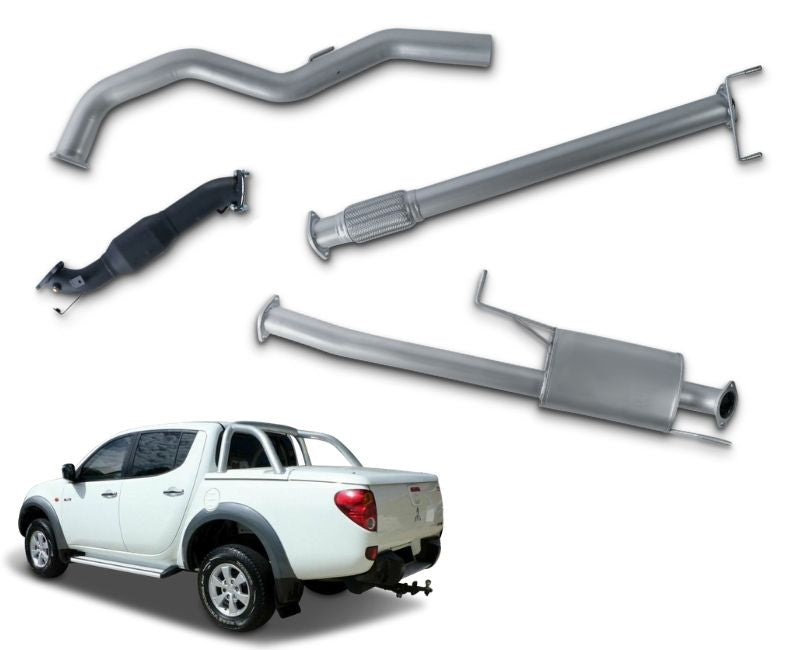 "3"" Turbo-Back Stainless Steel Exhaust System for 3.2lt Turbo Diesel Mitsubishi Triton ML Dual Cab Ute (07/2006 - 2009 Models) – Beast Unleashed Performance Exhausts"