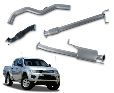 "3"" Turbo-Back Stainless Steel Exhaust System for 2.5lt Turbo Diesel Mitsubishi Triton MN Dual Cab Ute (2010 - 2015 Models) – Beast Unleashed Performance Exhausts"