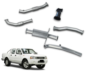 "3"" Turbo-Back Stainless Steel Exhaust System for 2.5lt Nissan Navara D22 Dual Cab Ute (2008 - 2016 Models) – Beast Unleashed Performance Exhausts"
