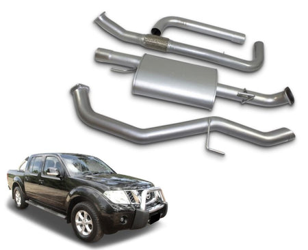 "3"" Stainless Steel Exhaust System for 2.5lt Turbo Diesel Nissan Navara D40 Dual Cab Ute Series 4 (09/2011 - 2015 Models) – Beast Unleashed Performance Exhausts"