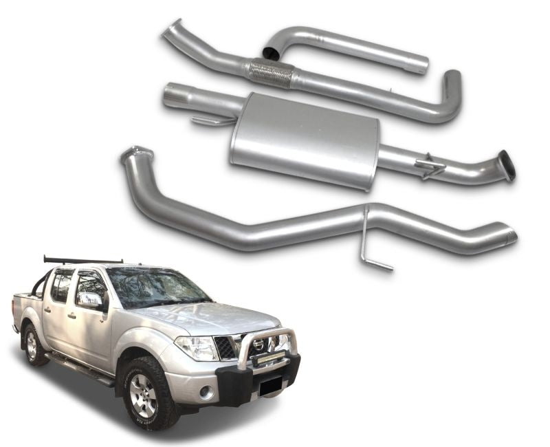 "3"" Stainless Steel Exhaust System for 2.5lt Turbo Diesel Nissan Navara D40 Dual Cab Ute (Up to 08/2011 Models) – Beast Unleashed Performance Exhausts"