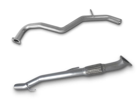 "3"" Stainless Steel Exhaust System for V6 Nissan Navara STX550 Dual Cab Ute with Cerachrome Dump Pipe (2010 - 2015 Models) – Beast Unleashed Performance Exhausts"