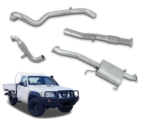 "3"" Turbo-Back Stainless Steel Exhaust System for 3.0lt Common Rail Nissan Patrol GU Ute Y61 - Coil Rear ONLY (1997 - 2016 Models) – Beast Unleashed Performance Exhausts"