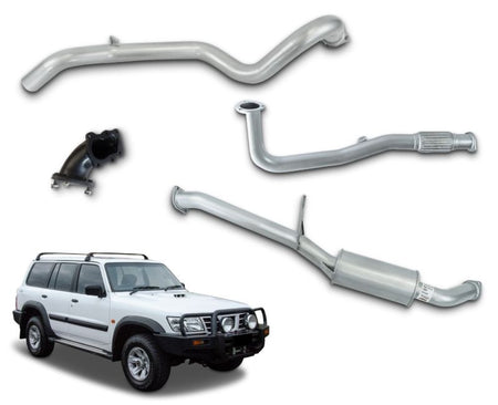 "3"" Turbo-Back Stainless Steel Exhaust System for 4.2lt Turbo Diesel Nissan Patrol GU Wagon Y61 (1997 - 2007 Models) – Beast Unleashed Performance Exhausts"
