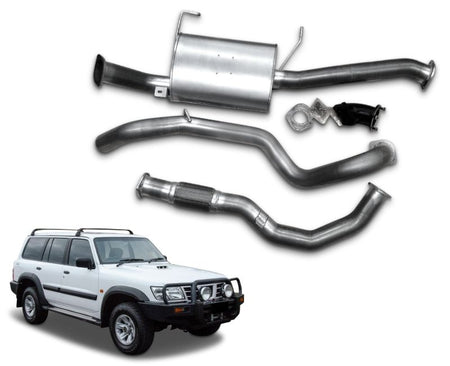 "3"" Turbo-Back Stainless Steel Exhaust System for 2.8lt Turbo Diesel Nissan Patrol GU Wagon Y61 (Up to 02/2005 Models) – Beast Unleashed Performance Exhausts"