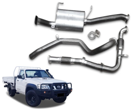 "2.5"" Turbo-Back Exhaust System for 3.0lt Common Rail Nissan Patrol GU Ute Y61 - Coil Spring Rear ONLY (10/2005 - 2019 Models) – Beast Unleashed Performance Exhausts"