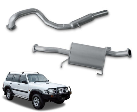 "2.5"" Cat-Back Stainless Steel Exhaust System for 4.5lt Petrol Nissan Patrol GU Wagon Y61 (10/1997 - 2019 Models) – Beast Unleashed Performance Exhausts"
