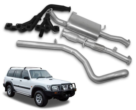 "2.5"" Stainless Steel Exhaust System with Extractors for 4.5lt Petrol Nissan Patrol GU Wagon Y61 (10/1997 - 2019 Models) – Beast Unleashed Performance Exhausts"