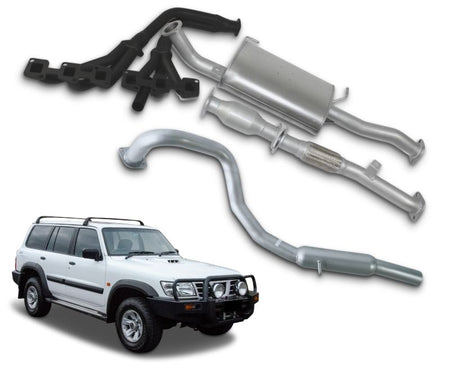 "2.5"" Exhaust System with Extractors for 4.8lt Petrol Nissan Patrol GU Wagon Y61 (10/1997 - 2019 Models) – Beast Unleashed Performance Exhausts"