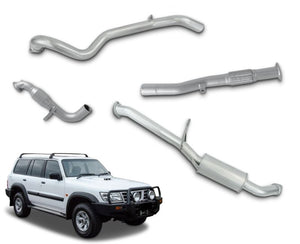 "3"" Turbo-Back Stainless Steel Exhaust System for 3.0lt Common Rail Nissan Patrol GU Wagon Y61 (1997 - 2016 Models) – Beast Unleashed Performance Exhausts"