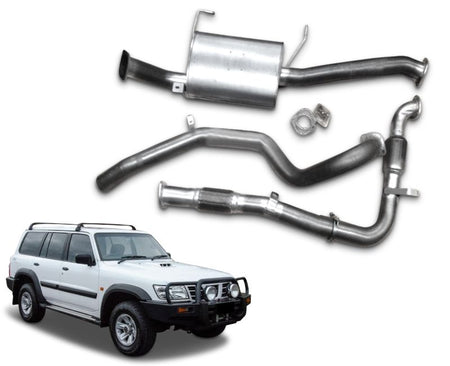 "2.5"" Turbo-Back Exhaust System for 3.0lt Common Rail Nissan Patrol GU Wagon Y61 (10/1997 - 2016 Models) – Beast Unleashed Performance Exhausts"