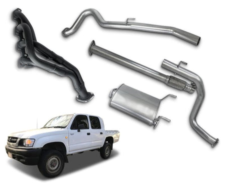 "2.5"" Stainless Steel Exhaust System with Extractors for 3.0lt Naturally Aspirated Toyota Hilux LN167, LN172 (1997 - 02/2005 Models) – Beast Unleashed Performance Exhausts"