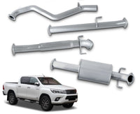 "3"" Stainless Steel DPF-Back Exhaust System for 2.8lt Toyota Hilux GUN126R (2015 - 2019 Models) – Beast Unleashed Performance Exhausts"