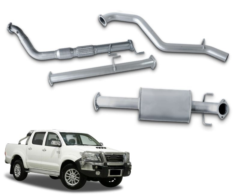 "3"" Turbo-Back Exhaust System for 3.0lt Turbo Diesel Toyota Hilux KUN26R (03/2005 - 2019 Models) – Beast Unleashed Performance Exhausts"