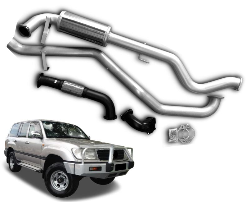 "3"" Turbo-Back Stainless Steel Exhaust System for 4.2lt V6 Toyota Landcruiser 105 Series Wagon (1998 - 2007 Models) – Beast Unleashed Performance Exhausts"
