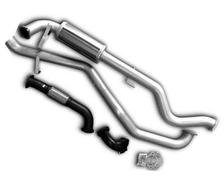 "3"" Turbo-Back Stainless Steel Exhaust System for 4.2lt Toyota Landcruiser 105 Series Wagon with Denco Turbo (1998 - 2007 Models) - Beast Unleashed Performance Exhausts"