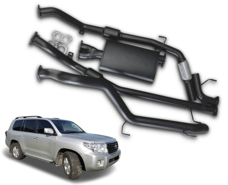"2.5"" to 3"" Turbo-Back Stainless Steel Exhaust System for 4.5lt V8 Turbo Diesel Toyota Landcruiser 200 Series Wagon (11/2007 - 09/2015 Models) – Beast Unleashed Performance Exhausts"
