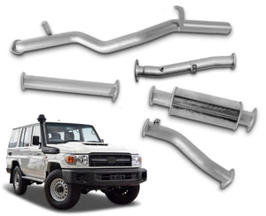 "3"" Stainless Steel DPF-Back Exhaust System for 4.5lt V8 Toyota Landcruiser 76 Series Wagon (2016 Onwards Models) – Beast Unleashed Performance Exhausts"