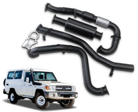 "3"" Turbo-Back Stainless Steel Exhaust System for 4.5lt V8 Turbo Diesel Toyota Landcruiser 78 Series Troop Carrier (01/2012 - 01/2016 Models) – Beast Unleashed Performance Exhausts"