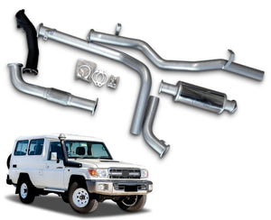 "3"" Turbo-Back Stainless Steel Exhaust System for 4.2lt Turbo Diesel Toyota Landcruiser 78 Series Troop Carrier (06/2006 Onwards Models) – Beast Unleashed Performance Exhausts"