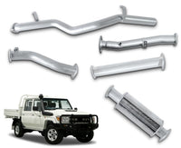 "3"" Stainless Steel DPF-Back Exhaust System for 4.5lt V8 79 Series Toyota Landcruiser Dual Cab Ute (2016 - 2019 Models) – Beast Unleashed Performance Exhausts"