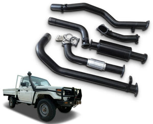 "3"" Turbo-Back Exhaust System for 4.2lt Turbo Diesel Toyota Landcruiser 79 Series Single Cab Ute (2002 - 2007 Models) – Beast Unleashed Performance Exhausts"