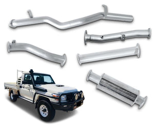 "3"" Stainless Steel DPF-Back Exhaust System for 4.5lt V8 79 Series Toyota Landcruiser Single Cab Ute (2016 - 2019 Models) – Beast Unleashed Performance Exhausts"