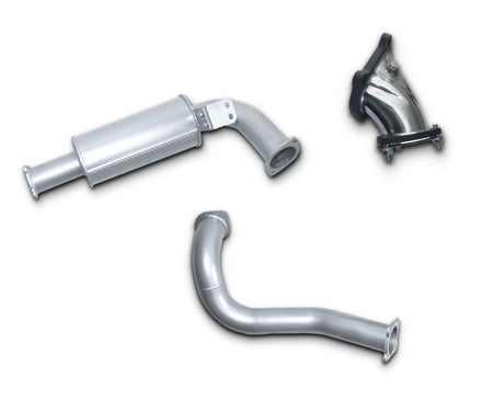 "3"" Turbo-Back Stainless Steel Exhaust System for 4.2lt Turbo Diesel Toyota Landcruiser 80 Series Wagon HDJ80 (1990 - 1998 Models) – Beast Unleashed Performance Exhausts"