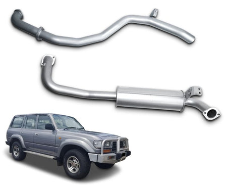 "2.5"" Exhaust System for 4.2lt 1HZ Diesel Toyota Landcruiser 80 Series Wagon HZJ80 (1990 - 1998 Models) – Beast Unleashed Performance Exhausts"