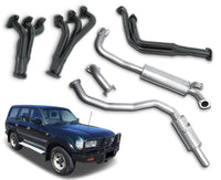 "2.5"" Exhaust System with Extractors for 4.5lt Petrol Toyota Landcruiser 80 Series Wagon FZJ80 (1990 - 1998 Models) – Beast Unleashed Performance Exhausts"