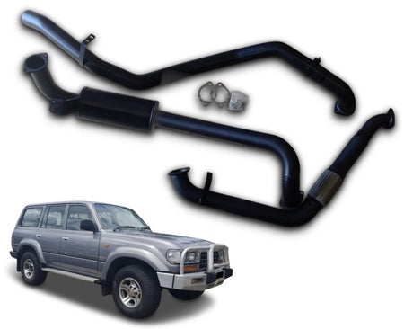 "3"" Turbo-Back Stainless Steel Exhaust System for 4.2lt 1HZ DTS Turbo Toyota Landcruiser 80 Series Wagon HZJ80 (1990 - 1998 Models)"