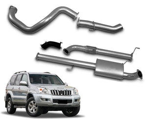 "3"" Turbo-Back Stainless Steel Exhaust System for 3.0lt Direct Injection Toyota Prado 120 Series (2002 - 2007 Models) – Beast Unleashed Performance Exhausts"