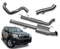 "3"" Turbo-Back Stainless Steel Exhaust System for 3.0lt Common Rail Toyota Prado 150 Series KDJ150R (2009 - 2015 Models) – Beast Unleashed Performance Exhausts"
