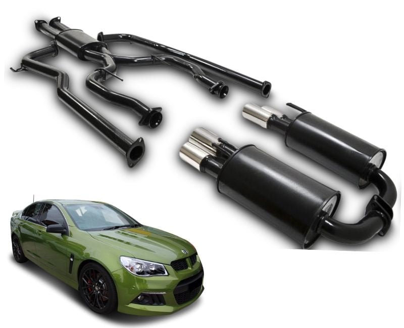 "2.25"" Twin Performance Exhaust System for 6 Cylinder VE, VF Holden Commodore Sedan & Wagon – Beast Unleashed Performance Exhausts"
