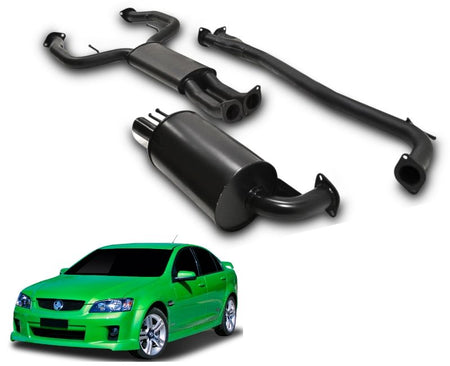 "2.5"" Performance Exhaust System for 6 Cylinder VE, VF Holden Commodore Sedan with Single Sided Rear Muffler – Beast Unleashed Performance Exhausts"